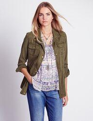 M&s легкая куртка в стиле милитари с отделкой строчкой indigo collection