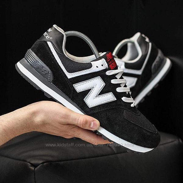 Мужские кроссовки new balance 574 черные замшевые мужские кроссовки new bal