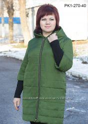 Удлиненная курточка  деми разные цвета 50-60 рр.