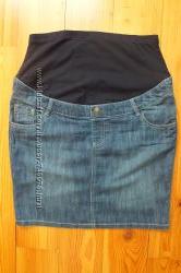 Джинсовая юбка для беременных Yessica