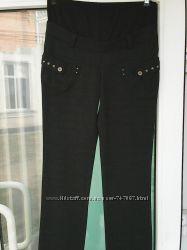 брюки для беременных в клетку р-р 46