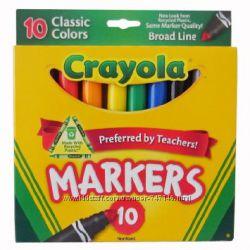 Маркеры Crayola Classic Broad Line Markers, 10 шт
