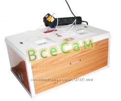 Цифровой инкубатор Курочка Ряба ИБ-100 с металлическим каркасом в пластик