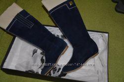 амшевые синие сапоги 36-37 в идеале
