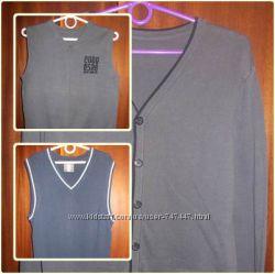 Школьные свитера, жилетки на мальчика рост 140-152
