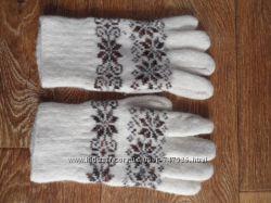 Шерстяные перчатки зимние женские, бу