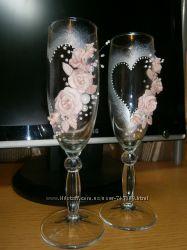 Свадебные бокалы Нежность