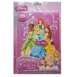 Светящийся мерцающий блокнот - секретник от Disney Princess Light-Up Diary.