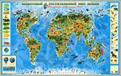 Карта животный и растительный мир
