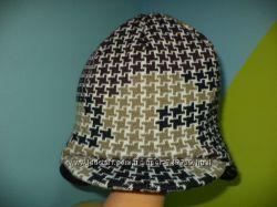 Женская теплая двойная шапка с козырьком - возможен обмен