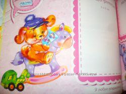 Яркий качественный детский фотоальбом первого года жизни для любимой дочки