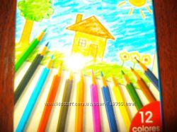 Карандаши цветные новые - без упаковки - уценка - канцтовары распродажа