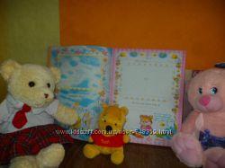 Огромный детский фотоальбом для фото и записей от рождения до школы унисекс