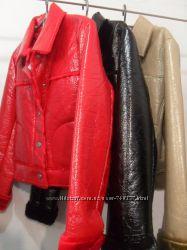 Стильные лаковые курточки на меху Англия