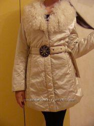 Куртка молочная Воротник лама р. S-M