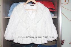 Накидка полушубок для свадебного платья