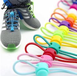 Вналичии Шнурки эластические резиновые с фиксаторами Locklaces