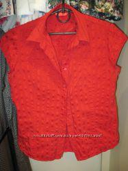 Красная рубашка тм SELA р. 46 хорошее состояние