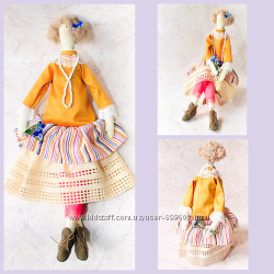 Интерьерная кукла в стиле Тильда бохо. Handmade. Вналичии.