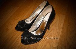 Туфли замшевые, открытый носок