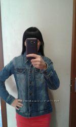 Джинсовый пиджак 36-38р.