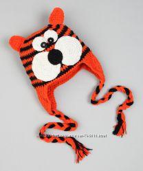 Забавные вязаные шапочки с мордочками handmade
