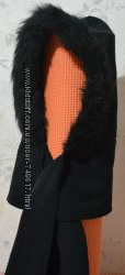 Капюшон-шарф черного цвета, бу, в хорошем состоянии