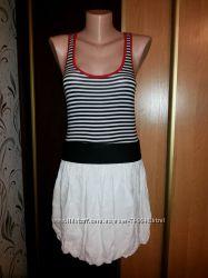 Оригинальное легкое летнее платье, в стиле Матроска Kikiriki