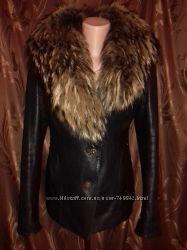 Натуральная кожаная утепленная куртка Aojinuo с натуральным мехом