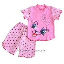 Комплект пижамки Мяу для девочки на р. 98-110. Порадуйте своего ребенка