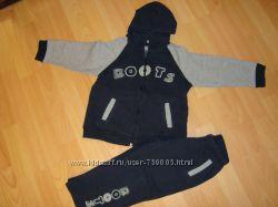 Спортивные костюмы утепленные флисом для мальчиков 2-4 лет
