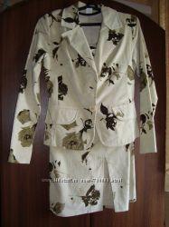 Нарядный женский костюм - микровельвет на  р. 44-46