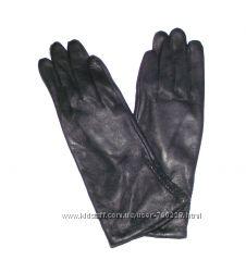 Перчатки демисезонные кожаные женские Romania удлиненные