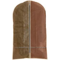 Чехол для одежды  коричневый, зелёный
