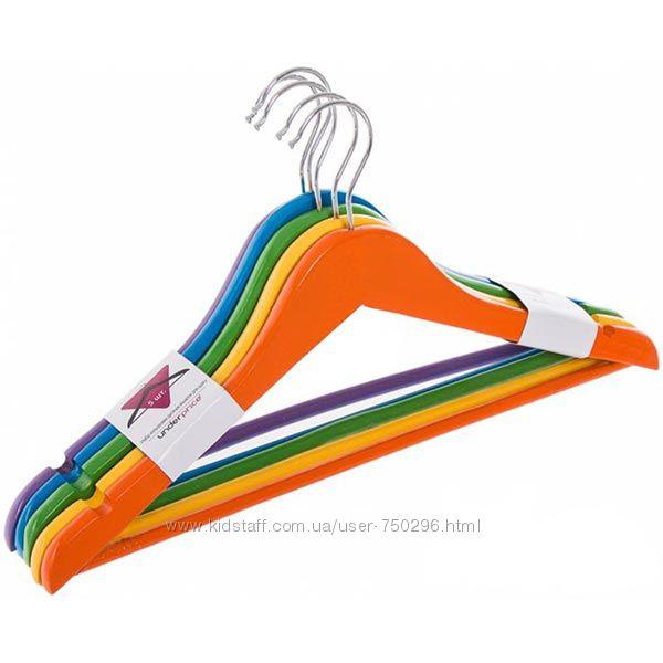 Вешалка плечики тремпель 5 шт. цветные детские