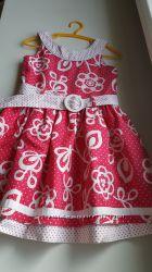 Платье летнее для девочки 4-5лет