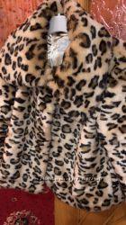 Леопардовая шуба Next хит сезона 11-13 лет