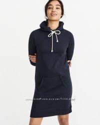 Теплое платье-худи с капюшоном abercrombie, размер xs, большемерит оригинал