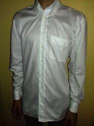 Белоснежная рубашка Lorenzo Calvino 100 премум-хлопок. Не мнется. b&uumlgelfre