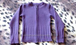 Детская кофта фиолетовая ТМ Лютик  б. у. рост 128