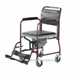 Гигиеническое ресло-стул на колесах  с горшком для инвалидов