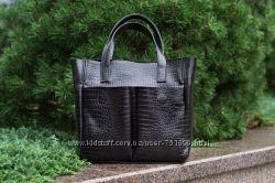 26a37b8db183 Кожаная женская сумка Палермо, М2, кайман, 1100 грн. Женские сумки ...