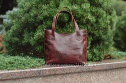 dcf8217dc628 Кожаная женская сумка Венеция, М1, кайман, 1100 грн. Женские сумки ...