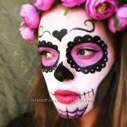Аквагрим, макияж на Хэллоуин