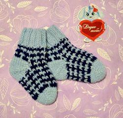 Детские вязаные теплые носки