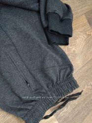 Спортивные брюки штаны мужские на манжете серые