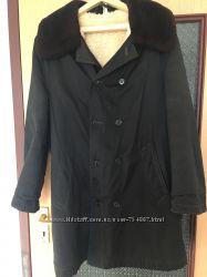 Куртка черная зимняя меховая размер 48 - 50