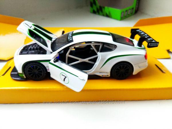 Коллекционная машинка металл Bentley Continental GT3 Бентли 132 металл, св