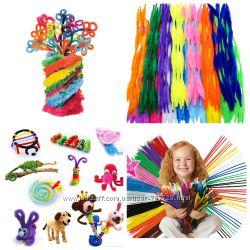 Набор 100 шт синельная проволока 4 вида для детского творчества