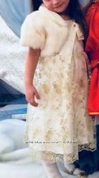 Платье золотое  98- 104
